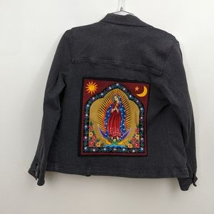 Jean jacket with virgin patch